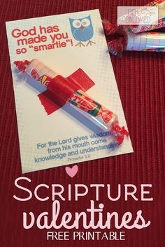 sunday school valentine,This simple and frugal scripture valentine is the perfect way to spread the love of Jesus this year! All you need is a pack of Smarties and some washi tape. Come get your Free printable today! Funny Valentine, Roses Valentine, Kinder Valentines, Valentines Day Party, Valentine Day Crafts, Be My Valentine, Valentine Ideas, Happy Home Fairy, Bff