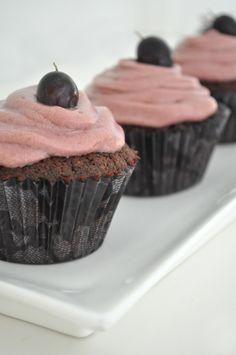 Chocolate & Red Wine Cupcakes