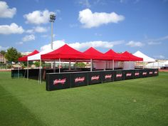 #Budweiser using our MASTERTENT Classic on the Low Cost Festival 2014