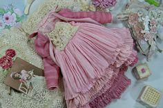Купить Комплект для куклы , шебби шик - бежевый, белый, бохо, розовый, рыжий, нежный
