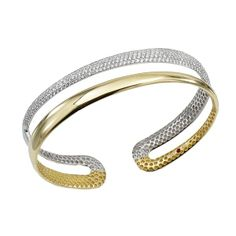 Gorgeous two-toned silver and gold cuff bracelet | JR Dunn Jewelers | #jewelry