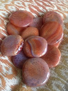 Fire Agate Palm Stones - vision questing, addiction resolution, protection, past life recall - root chakra - Sage Goddess