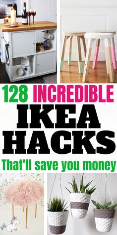 Diy IKEA Hacks that will save you tons of money... These budget DIY projects from IKEA will give you all the home decor inspiration you need!