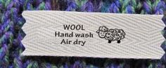 WoolAid and Warm Hands WOOL Care Labels by mountainstreetarts, $9.00