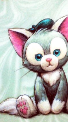 ジェラトーニ Disney Cats, Disney Girls, Disney Cartoons, Disney Pixar, Cute Disney, Disney Dream, Duffy The Disney Bear, Disney Illustration, Tokyo Disney Sea