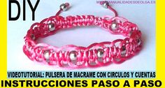 COMO HACER PULSERA DE MACRAME DE CIRCULOS CON CUENTAS PLATEADAS CON NUDO...