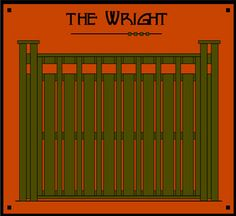 Dragonfly Studio Fence Panels. The Wright - Recalls design touches from America's finest architect. A simple geometric pattern reveals an early 1900's airy privacy.