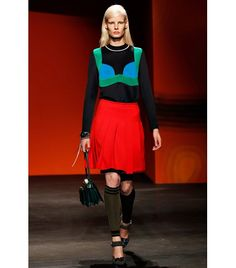 @Who What Wear - Prada S/S 14                 Okay, okay, we know there's no real layering going on here, but we're never ones to skip out on a tromp l'oeil reference, especially when it relates to the latest trends.