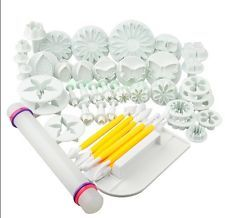 46Pcs Fondant Sugarcraft Cake Decorating Icing Plunger Cutters Tools Mold Mould Cake Decorating Icing, Kitchen Dining, Fondant, Bar, Tools, Instruments, Gum Paste, Cake Decorating Frosting, Candy