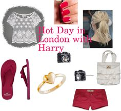 """Hot Day in London with Harry"" by one-direction-outfits1 ❤ liked on Polyvore"