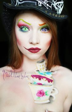 Halloween mad hatter makeup inspiration