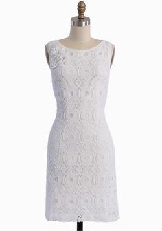 """Lucky In Love Lace Dress 76.99 at shopruche.com. Crafted in luxurious cotton, this classic shift dress is polished with a romantic lace overlay, sweet matching ruffled accents at the shoulder, and a hidden side zipper closure for an alluring day to night look. Fully lined.100% Cotton, Imported, 36"""" length from top of shoulders, 32"""" bust, All measurements taken from a size small, ,"""