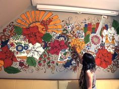 Sol Beer Mexican mural by Saroj Patel, via Behance  North wall- Scott or Will?