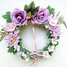 Summer Wreath, Floral Wreath, Wreaths, Decor, Dahlias, Floral Crown, Decoration, Door Wreaths, Deco Mesh Wreaths
