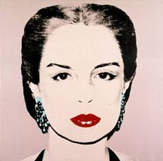 Carolina Herrera by Andy Warhol. Strong brow, bold red lip. Crisp white shirt, and clear vision of beauty.