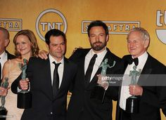Kerry Bishe, Rory Cochrane, Ben Affleck, Victor Garber and Alan Arkin pose at the 19th Annual Screen Actors Guild Awards at The Shrine Auditorium on January 27, 2013 in Los Angeles, California.