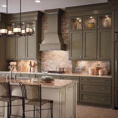 Kitchen Cabinets - love this color which is weird I usually like cherry wood!