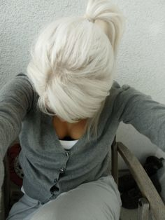 I would kill to have white blonde hair I wish my hair would turn this color.  I had a neighbor and her hair turned this color when she was in her 20's I always loved it