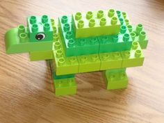 We've made several Duplo turtles over the last couple years, but this one is the most recent, and fairly representative of the way the others were built except maybe a layer smaller. Lego Duplo, Infant Activities, Fun Activities, Lego Bible, Lego Studios, Lego Therapy, Lego Animals, Lego Club, Lego Projects