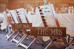 love these chair signs!