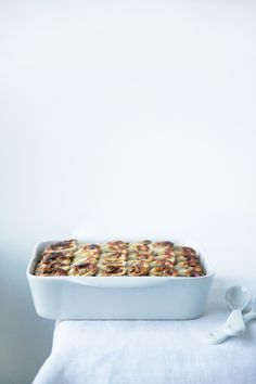 ... baked banana oatmeal with nuts, seeds and cinnamon ...