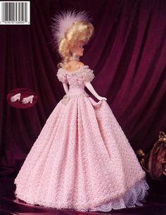 Image detail for -... Gown Paradise 39 Barbie Crochet Pattern Leaflet New | eBay