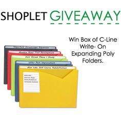 Win a Box of C-Line Write- On Expanding Poly Folders. | Shoplet Blog