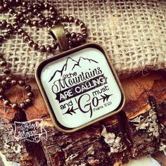 the mountains are calling and I must go necklace by The Adopt Shoppe #theadoptshoppe #camping #mountains