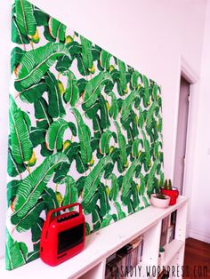 Cuadro entelado - Estampado tropical - DIY- Fabric print - Tropical pattern - Patrón selva - Fabric frame