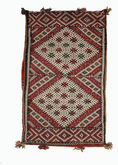 Vintage Berber pillow. Wonderfully balanced geometric designs. From Maroc Tribal. www.maroctribal.com