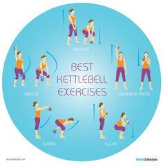 5 Best Kettlebell Exercises -- burn calories SO fast! | http://www.worldlifestyle.com/fitness/5-amazing-kettlebell-exercises