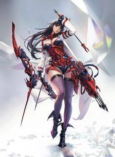 super Ideas for fantasy warrior concept art rpg Dark Fantasy Art, Fantasy Art Women, Beautiful Fantasy Art, Anime Fantasy, Fantasy Girl, Fantasy Artwork, Final Fantasy, Fantasy Female Warrior, Anime Warrior