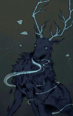 winterofherdiscontent 'The Nightmare Stag (Dire Ravenstag)'.