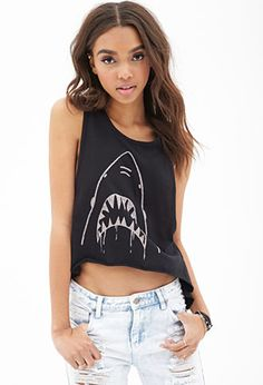 High-Low Shark Muscle Tank | FOREVER21 - 2000060297