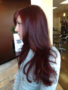 Dark red hair - All For Hair Color Trending Deep Red Hair Color, Red Brown Hair, Hair Color And Cut, Dark Hair, Cherry Cola Hair Color, Burgundy Hair, Color Red, Mahagony Hair Color, Gorgeous Hair
