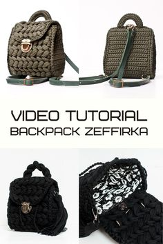 Backpack Zeffirka NEW Large backpack PDF pattern by IlovecreateStore. Boho backpack video tutorial Crochet bag Handbag patterns Crochet handbag PDF pattern. Backpack Zeffirka NEW PDF pattern and complete and detailed video-description of the whole backpack creating process with 3-DC clusters. You need to have at least basic skills of crocheting to understand the process completely. The terms of crocheting are 1-3 days.