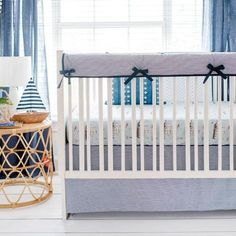 Shop a vast selection of baby bedding & baby crib sets in stock and made in the USA! Trendy crib bedding including buffalo plaid, floral, linen & more! Fresh and chic infant bedding for your nursery! Nautical Nursery Bedding, Baby Boy Crib Bedding, Baby Boy Cribs, Baby Bedding Sets, Baby Boy Rooms, Nursery Decor, Nursery Ideas, Crib Sets For Boys, Crib Rail Cover