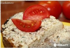Sajtos gombakrém háziasan Clean Recipes, Vegetarian Recipes, Dips, Grains, Sandwiches, Snacks, Vegetables, Eat, Cooking