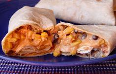 Healthy-ish Creamy Chipotle Black Bean Chicken Enchiladas. Yes please.