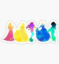 Pegatina Princesses Inspired Silhouette