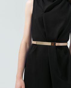 Image 5 of DRESS WITH METAL PLAQUE BELT from Zara