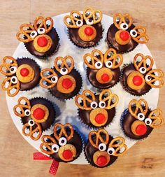2013 Christmas Party Food Ideas, Christmas Reindeer Cupcakes For Kids, Homemade Party Cupcakes