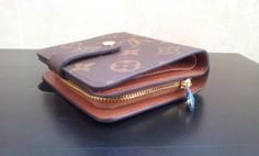 Louis Vuitton Monogram Canvas Zipped Compact Wallet M61667. close shoot. $109+FREE shipping+on-line payment