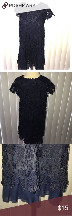 Navy Special occasion dress Navy Special Occasion dress for a Child. It is adorable and looks amazing with the crotchet layers. It has never been worn Dresses Formal