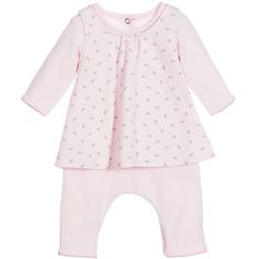 Absorba Pink 2 Piece Organic Cotton Romper & Dress Set at Childrensalon.com