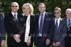 RAF Bomber Command Memorial Foundation Stone Laying Ceremony, London, Britain - 04 May 2011 John Caudwell and wife, Lord Michael Ashcroft and Robin Gibb