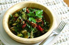 Creamy Mediterranean Kale Salad; A creamy kale salad by Lauren Felts ...
