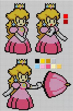 Princess Peach perler bead patterns