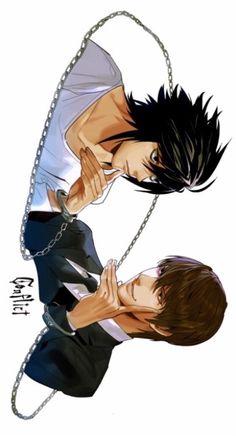 Tags: Death Note, L Lawliet, Light Yagami, Lawlight, fan art