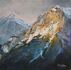 Mountain Side by Linda Wilder Acrylic ~ 12 x Inspiration Art, Art Inspo, Landscape Art, Landscape Paintings, Landscapes, Oil Painting Abstract, Acrylic Paintings, Acrylic Landscape Painting, Baby Painting